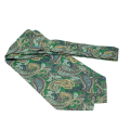 em men's accessories Fular jedwabny zielony paisley (3).png