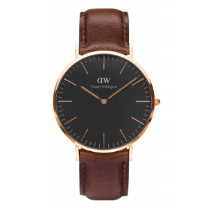 Classic Black Bristol Rose Gold 40 mm
