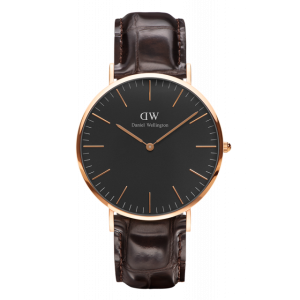 Classic Black York Rose Gold 40 mm