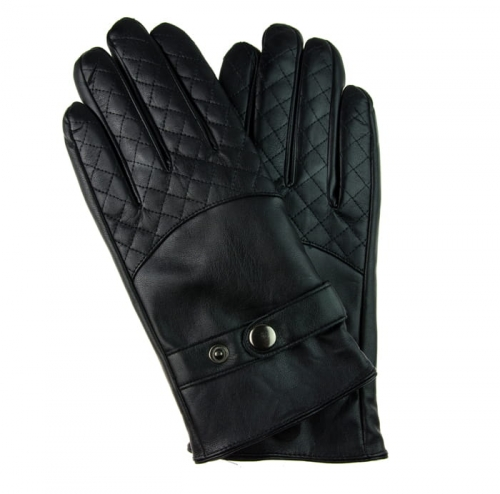 69ff42c48cc94 Rękawiczki czarne skóra ekologiczna touch screen EM 16 - EM Men s ...